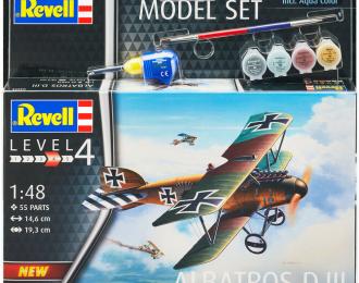Сборная модель Немецкий биплан Albatros D.III (подарочный набор)