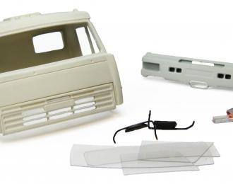 Дневная кабина для КАМАЗ (Евро-2, пластиковый бампер), грунт