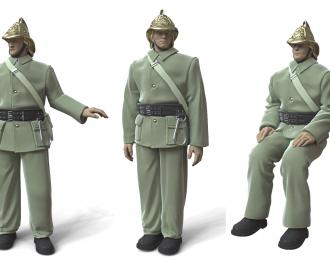Сборная модель Пожарный расчет (3 фигуры)
