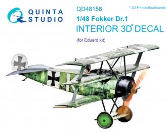 3D Декаль интерьера кабины Fokker Dr.1 (для модели Eduard)