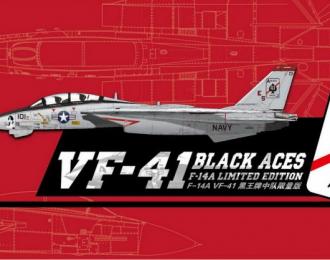 Сборная модель US Navy F-14A VF-41 Black Aces