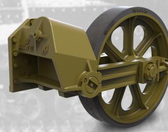 Набор дополнений ленивец с шиной, поздний тип для легкого танка США M3A1 / M3A3