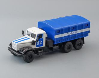 КРАЗ 255 Полиция, синий / белый + световые и звуковые эффекты