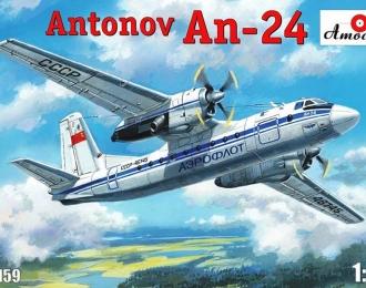 Сборная модель Советский пассажирский самолет Ан-24