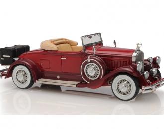 Pierce Arrow Model B Roadster 1930 open roof (maroon)