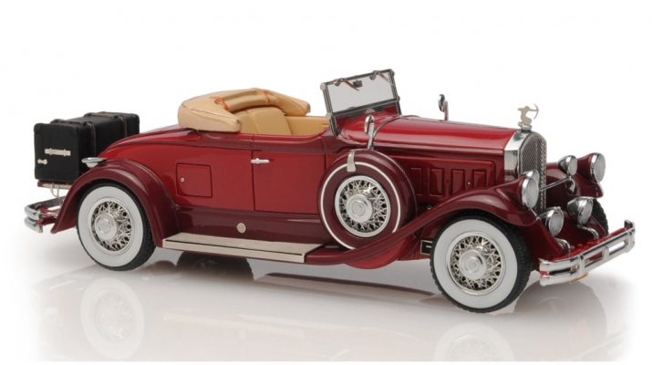 Pierce Arrow Model B Roadster 1930 open roof (maroon)