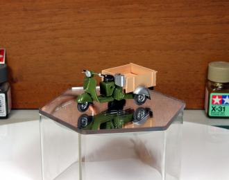 Вятка МГ-150 грузовой мотороллер (зелено-бежевый)