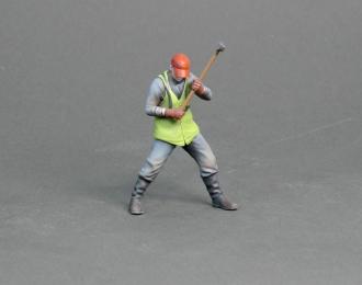 Фигура Мужчина с инструментом (масштаб 1:24) Вариант 3, окрашенная