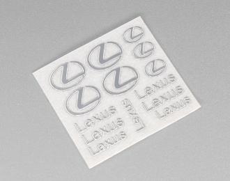 Наклейка объёмная металлизированная логотипы Lexus