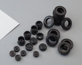 Резина, диски для ZIL 133 6х4 (волна)