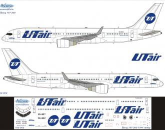 Декаль на самолет боенг 757-200 (ЮтАйр)