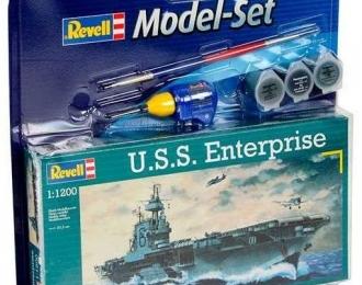 Сборная модель Американский авианосец USS Enterprise (Подарочный набор)