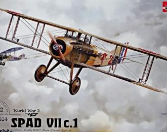 Сборная модель Французский истребитель Spad VII c.1