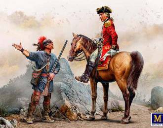 Сборная модель Донесение о передвижении врага. Серия Индейских войн, XVIII век. Набор № 3