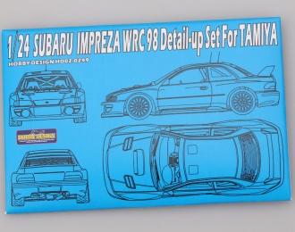 Набор для доработки Subaru Impreza WRC 98 Detail-up Set для моделей T(PE+Resin+Metal parts)
