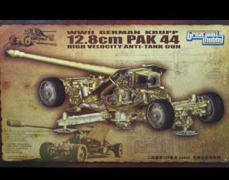 Сборная модель WWII German Krupp 12.8 cm Pak44 Anti-tank gun
