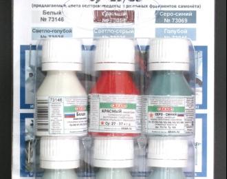 Набор акриловых красок Современная авиация России Су-27 (в наборе банки по 10 мл.)