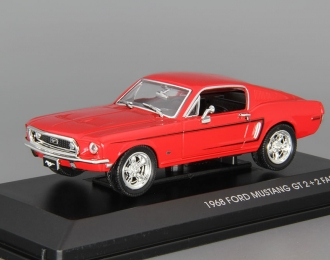 FORD Mustang GT 2+2 Fastback (1968), red