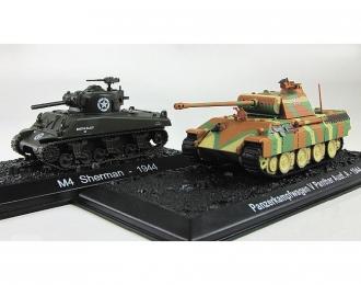 Panzerkampfwagen Panther Aust.A (1944) vs M-4 Sherman (1944), Танки Мира коллекция Спецвыпуск 2