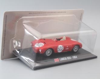 LANCIA D24 #602 (1954), red