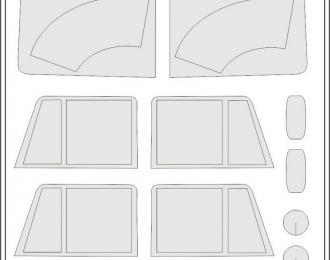 Окрасочная маска Грузовой автомобиль Камский 4310 полная (ICM 35001)