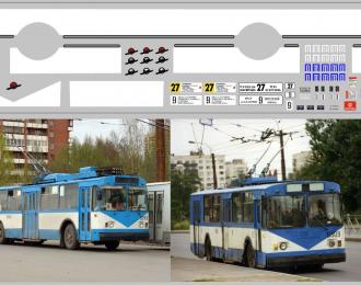 Набор декалей Полосы и маршруты для троллейбусов Санкт-Петербург (100х290)