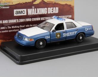 "(Уценка!) FORD Crown Victoria Police Interceptor ""Rick and Shane's"" из т/с ""Ходячие мертвецы"" (2001), blue / white"
