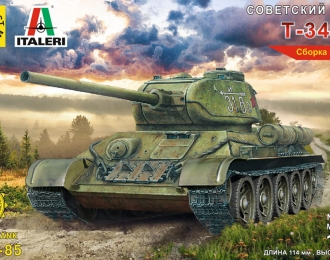 Сборная модель Советский танк Т-34-85