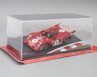 FERRARI 312P 24h Le Mans Drivers: J.C.Andruet / T. Zeccoli #1 (1974), red