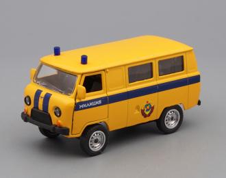 УАЗ 39625 милиция, желтый