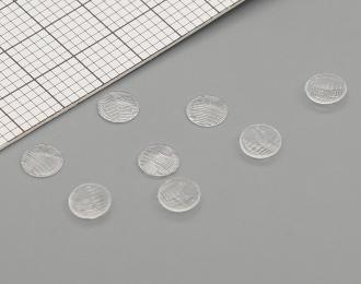 Комплект линз для фар (с рифлением) ФГ140-3711201 (4 мм), 8 шт