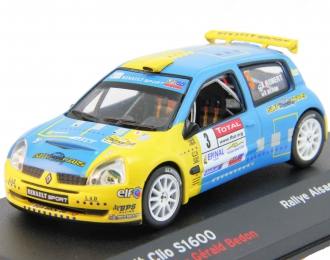 RENAULT Clio S1600 #3 Robert Cedric Bedon Gerald Rallye Alsace Vosges (2006), blue