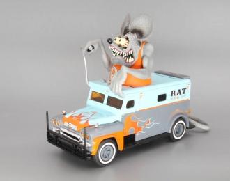 GMC Armored Truck Rat Fink - Rat Squad (Spardose), grey / blue
