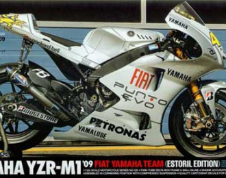 Сборная модель Мотоцикл Yamaha YZR-M1 '09 Fiat Yamaha Team (Estoril Edition)