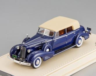 Cadillac V16 Convertible Sedan Fleetwood 1934 (dark blue)