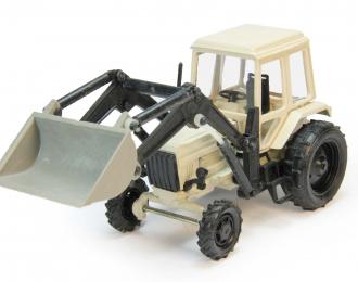 Трактор МТЗ-82 погрузчик (цельнометаллический), серый