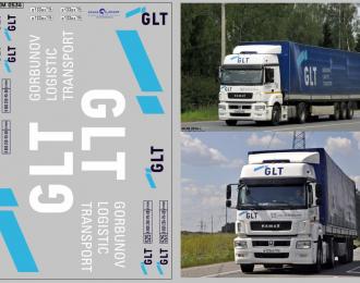 Набор декалей Транспортная компания GLT (вариант 2) (100х140)