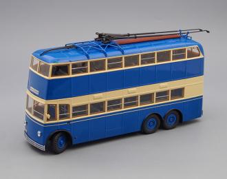 ЯТБ-3 Городской троллейбус 2-х дверный (1938-1939), синий / кремовый