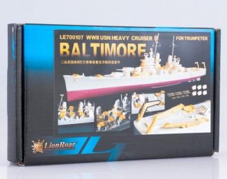 Набор для доработки Американский тяжелый крейсер USS BALTIMORE CA-68