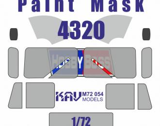 Окрасочная маска на Уральский грузовик 4320 (Hobby Boss)