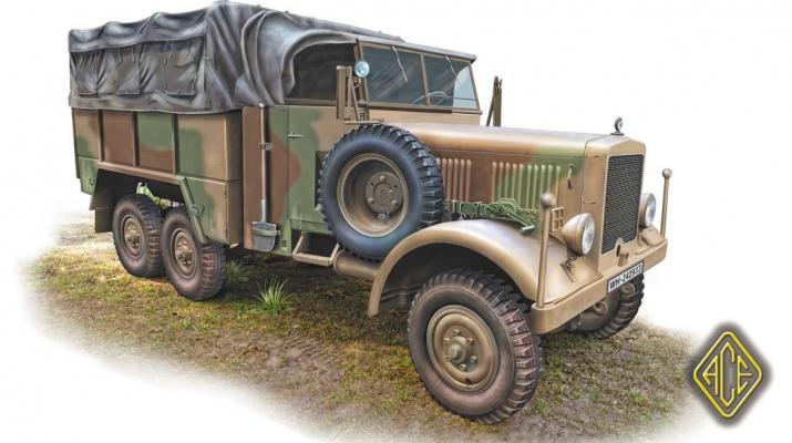 Сборная модель Einheints-Diesel 2.5t 6x6 Lastkraftwagen (LKW)