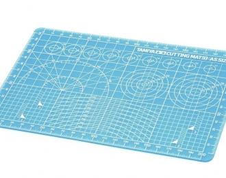 Пластик А5 для разметки, резки и дизайнерских работ (не повреждается), голубой