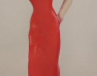 Фигурка Девушка в красном платье