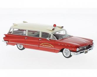 BUICK Flxible Premier Ambulance (скорая медицинская помощь) 1960 Red/White