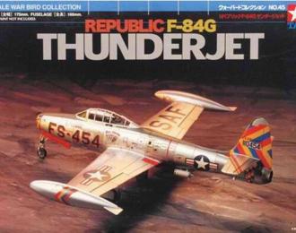 """Сборная модель Американский реактивный истребитель Republic F-84G """"Thunderjet"""""""