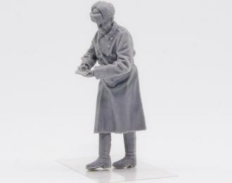 (KIT) Фигурка сотрудник ГАИ СССР (зимня форма) пишет протокол