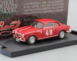 ALFA ROMEO Giulietta Sp. Veloce Rally Sestiere Ada Pace-Bartoletti #48 (1958), red