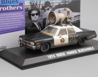 "DODGE Monaco ""Bluesmobile"" Horn on Roof из к/ф ""Братья Блюз"" (1974), black / white"