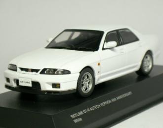 NISSAN Skyline GT-R(BCNR33) AUTECH Ver. 40th ANNIVERSARY, белый