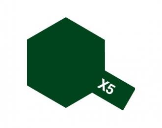 X-5 Green (краска эмалевая, зеленый глянцевый), 10мл.